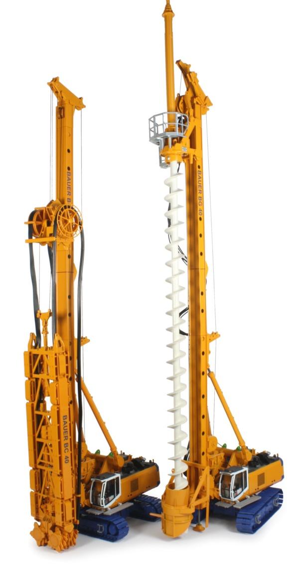 Miniature Construction World - Bauer BG40 model