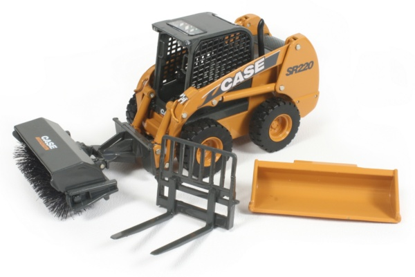 Miniature Construction World Case Sr220 Skid Steer Loader