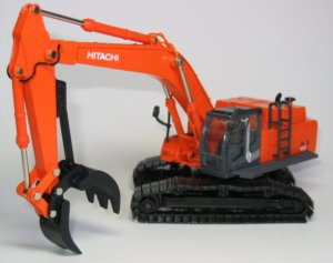 Hitachi Zaxis 450 with grapple