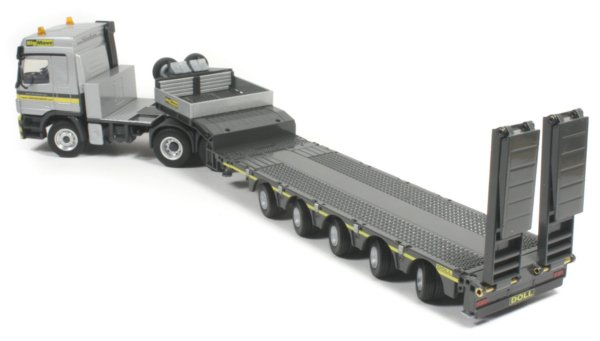 Miniature Construction World Doll 5 Axle Low Bed Trailer