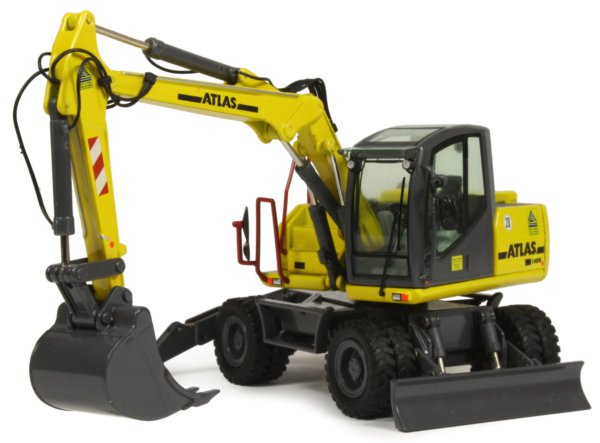 Miniature Construction World Atlas 140w Wheeled Excavator
