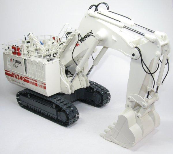 Miniature Construction World Terex Rh340 Backhoe