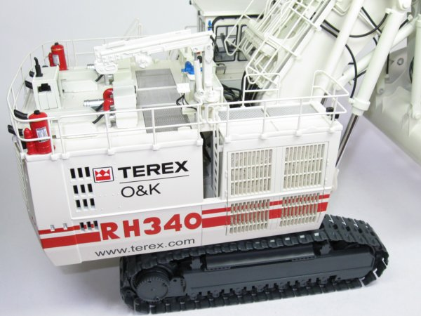 Miniature Construction World Terex Rh340 Face Shovel Model