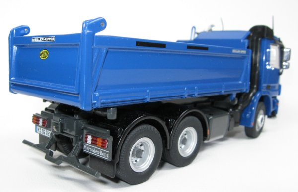 Dump Truck 3 Axles : Miniature construction world mercedes actros axle dump