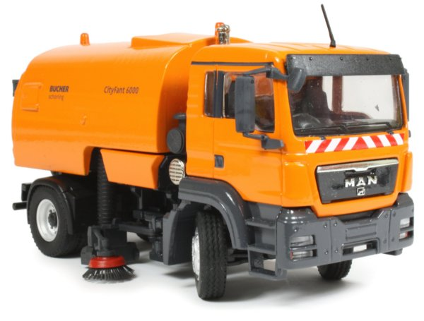 miniature construction world bucher schoerling cityfant  road sweeper