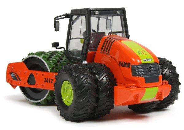 Miniature Construction World - Hamm 3412 AGRI Single Drum Compactor