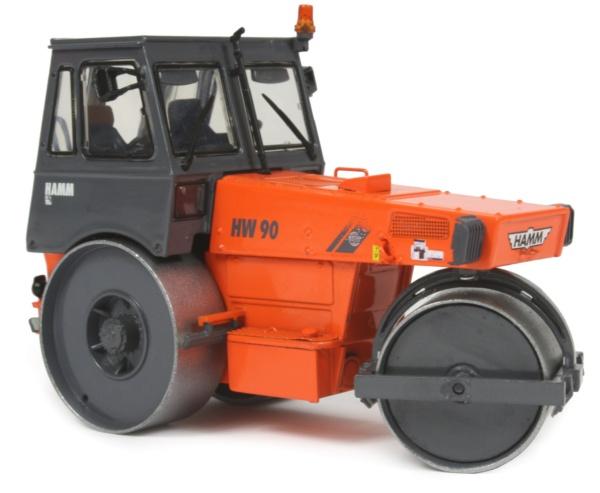 Miniature Construction World Hamm Hw90 Static Roller