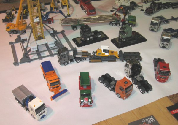 new Caterpillar models and a number of truck models from Conrad